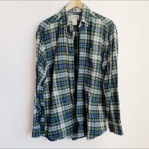 ll bean (mens) cotton flannel button up